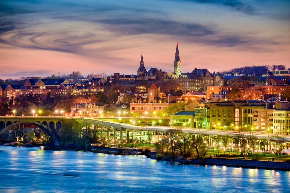 Georgetown, Washington, DC skyline on the Potomac River..jpeg