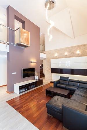 Grand design - Living room with balcony