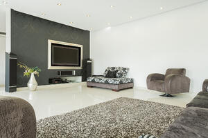 Living room in modern style in the residence