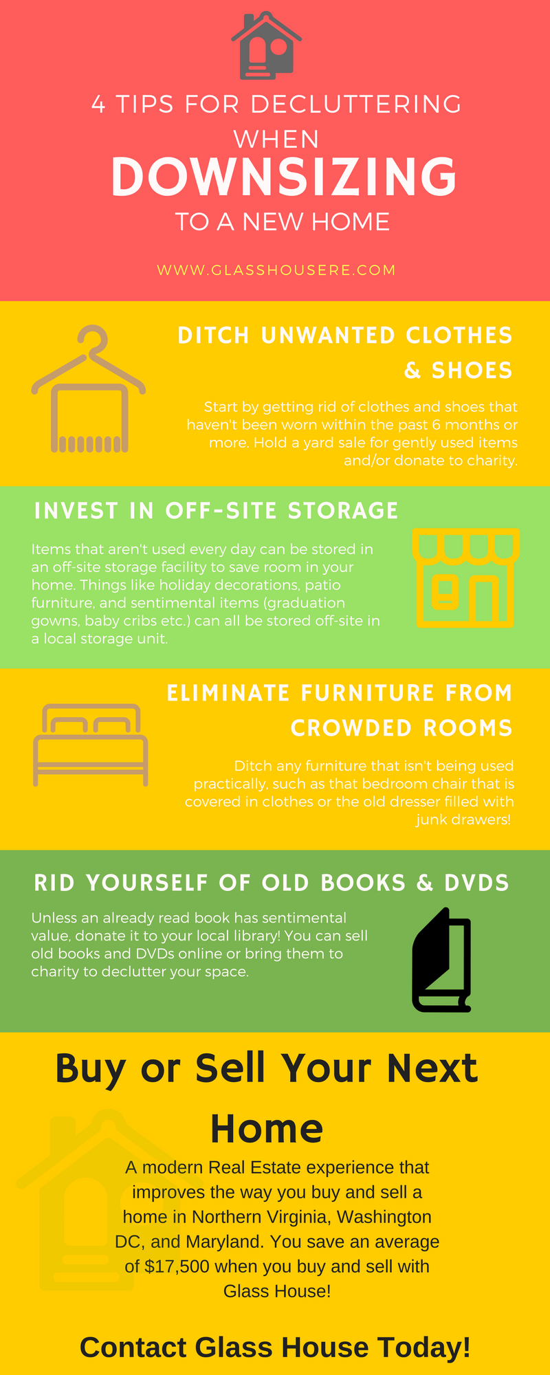 4 Tips For Decluttering When Downsizing To a New Home [INFOGRAPHIC]