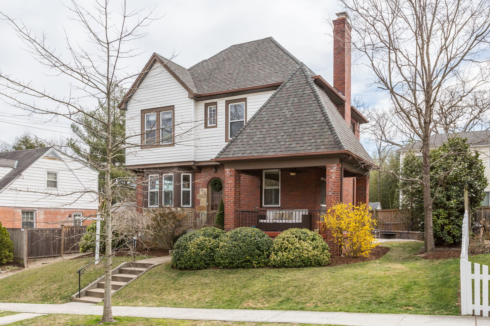 SOLD:4 Level Brick and Stone Tudar Home